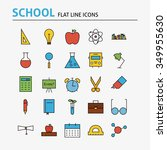 school and education colorful... | Shutterstock .eps vector #349955630
