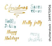 christmas hand drawn holiday... | Shutterstock .eps vector #349970906