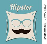 hipster style concept with... | Shutterstock .eps vector #349974560