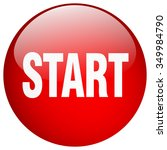 start red round gel isolated... | Shutterstock .eps vector #349984790