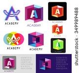 letter a logo. template letter... | Shutterstock .eps vector #349989488