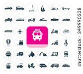 transportation icons set.... | Shutterstock .eps vector #349990328