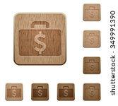 set of carved wooden dollar bag ...