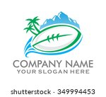 rugby football around the world ... | Shutterstock .eps vector #349994453