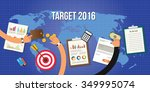 goals for new year 2016 target... | Shutterstock .eps vector #349995074