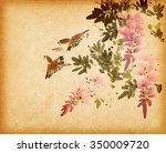Chinese Watercolor Painting Of...