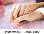 people  holidays  engagement... | Shutterstock . vector #350011580