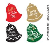 christmas tag on a gift. the... | Shutterstock .eps vector #350022296