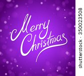 purple merry christmas greeting ...   Shutterstock .eps vector #350023508