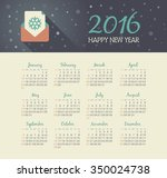 calendar 2016 year with... | Shutterstock .eps vector #350024738