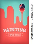 painting tips and tricks... | Shutterstock .eps vector #350027210