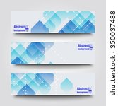 set of banner templates with... | Shutterstock .eps vector #350037488