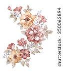 watercolor illustration bouquet ... | Shutterstock . vector #350063894