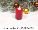 Advent Candles With Fir Green...