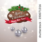 christmas background with... | Shutterstock .eps vector #350071316