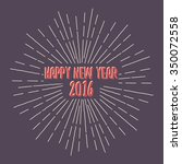 happy new year 2016. lettering... | Shutterstock .eps vector #350072558