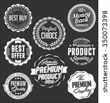badges collection. white on a... | Shutterstock .eps vector #350073398