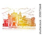 plaza de toros de las ventas ... | Shutterstock .eps vector #350073668
