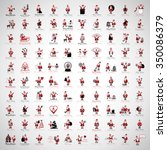 santa claus icons and christmas ... | Shutterstock .eps vector #350086379