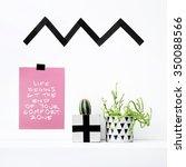 scandinavian interior design.... | Shutterstock . vector #350088566
