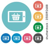 flat mobile shopping icon set...