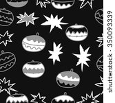 seamless pattern  of christmas...   Shutterstock .eps vector #350093339