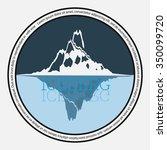 iceberg icon. vector illustrator | Shutterstock .eps vector #350099720