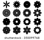 silhouettes of simple vector... | Shutterstock .eps vector #350099768