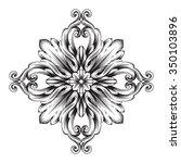 vintage baroque frame scroll...   Shutterstock .eps vector #350103896