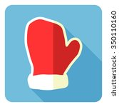 santa's glove icon. vector... | Shutterstock .eps vector #350110160