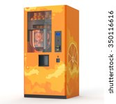 fresh juice vending machine on... | Shutterstock . vector #350116616