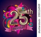 25th years anniversary wreath... | Shutterstock .eps vector #350116949
