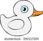 Duck Illustration   Vector Art