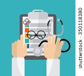 medical concept with medicine... | Shutterstock .eps vector #350118380