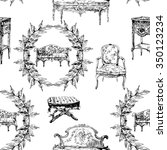 pattern with furniture from...   Shutterstock . vector #350123234