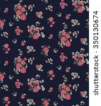 trendy seamless floral ditsy... | Shutterstock .eps vector #350130674