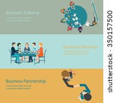 infographic of business meeting ... | Shutterstock .eps vector #350157500