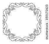 vintage baroque frame scroll... | Shutterstock .eps vector #350172623