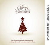 merry christmas card  stylized... | Shutterstock .eps vector #350185373
