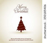 merry christmas card  stylized... | Shutterstock .eps vector #350185406