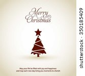 merry christmas card  stylized... | Shutterstock .eps vector #350185409
