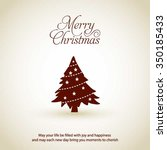 merry christmas card  stylized... | Shutterstock .eps vector #350185433