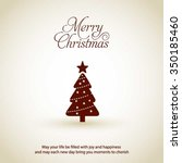 merry christmas card  stylized... | Shutterstock .eps vector #350185460
