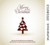 merry christmas card  stylized... | Shutterstock .eps vector #350186513