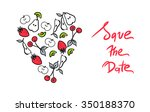 save the date design. vector... | Shutterstock .eps vector #350188370