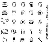 collection of dental care icons | Shutterstock .eps vector #350193653