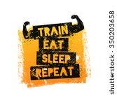 train eat sleep repeat.... | Shutterstock . vector #350203658