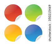 colorful set of glossy round... | Shutterstock .eps vector #350215469