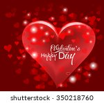 valentine's day or wedding... | Shutterstock .eps vector #350218760