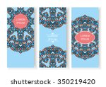 set of abstract backgrounds... | Shutterstock .eps vector #350219420